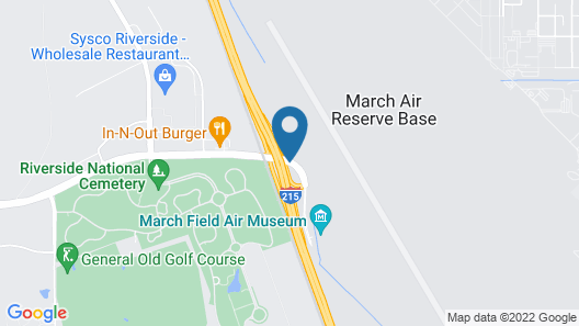 Home2 Suites by Hilton Riverside March Air Force Base Map