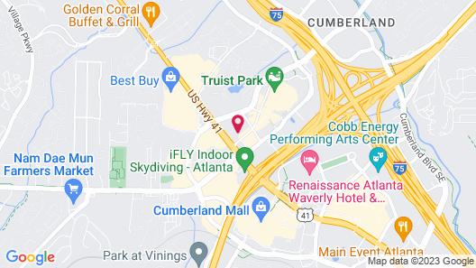 Aloft Atlanta at The Battery Atlanta Map