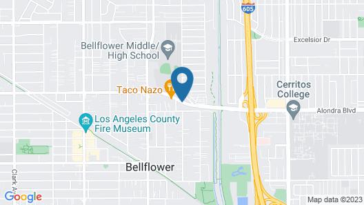 Value Inn Bellflower Map