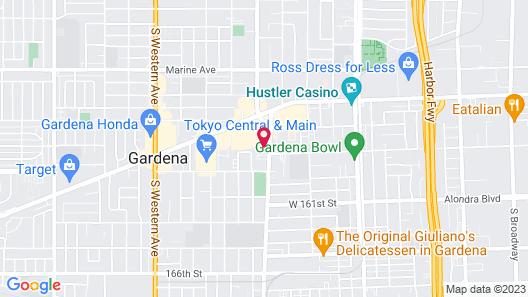 Rodeway Inn Gardena Los Angeles South Map