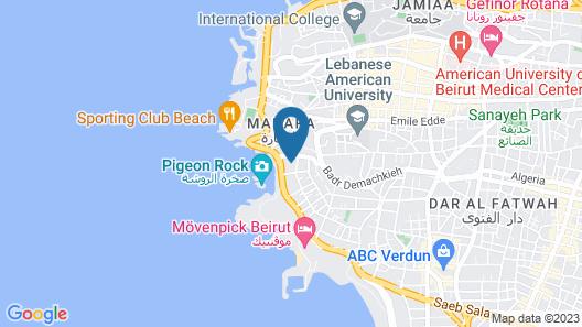 Raouché Arjaan by Rotana Map