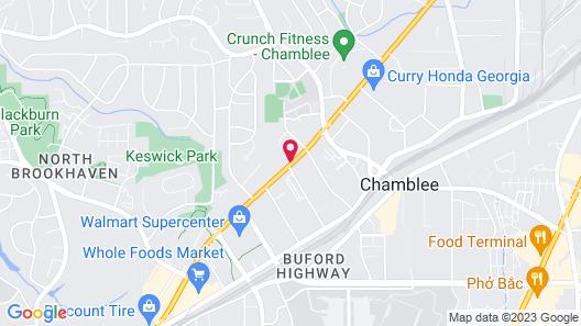 Studio 6 Atlanta, GA - Chamblee Map