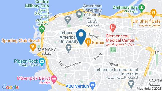 Coral Beirut Al Hamra Hotel Map
