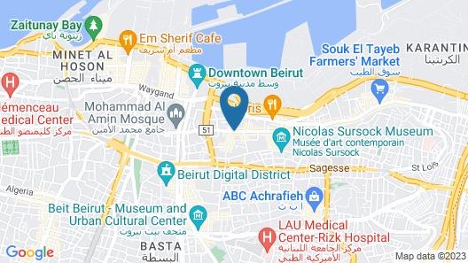 Arthaus Beirut Map