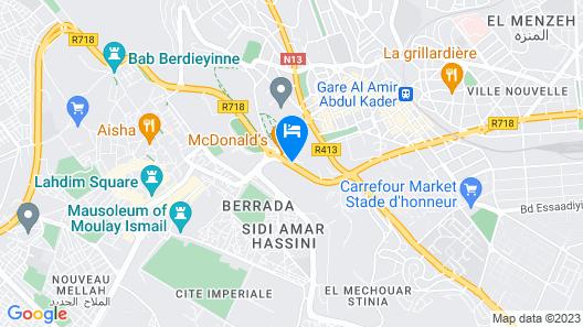 ibis Meknes Hotel Map