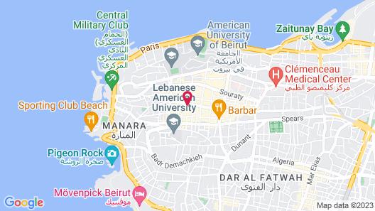 Crowne Plaza Hotel Beirut, an IHG Hotel Map