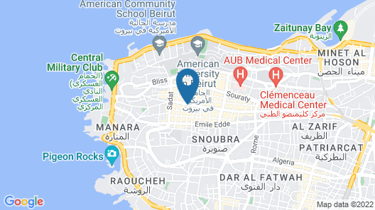 Crowne Plaza Hotel Beirut Map