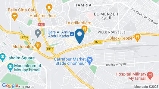 Hotel Bab Mansour Map