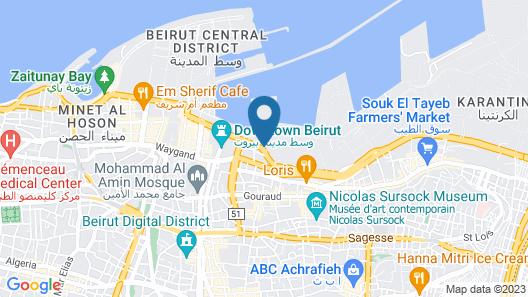 Le Patio Boutique Hotel Map