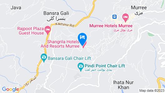 Shangrila Resort Hotel Murree Map