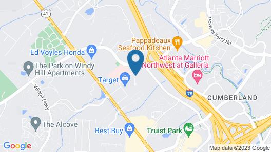 Comfort Inn & Suites Ballpark Area Map