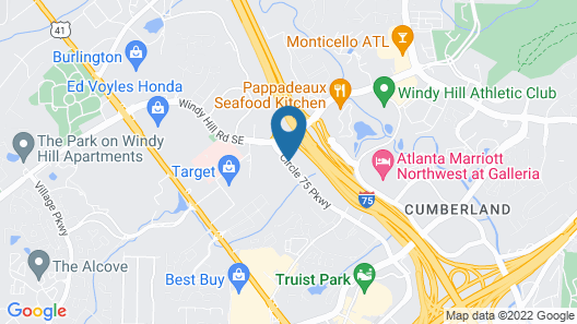 Country Inn & Suites by Radisson, Atlanta Galleria/Ballpark, GA Map