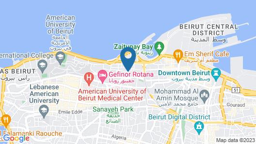 Radisson BLU Martinez Hotel, Beirut Map