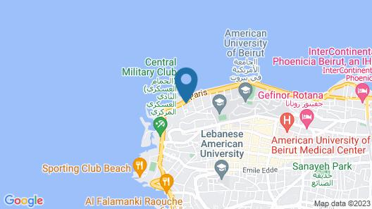 Riviera Hotel Beirut Map