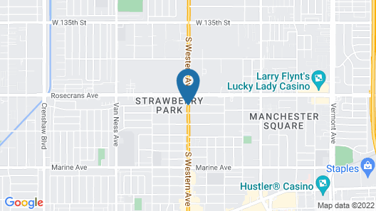 Best Western Plus Gardena Inn & Suites Map