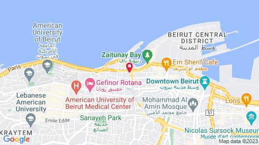 InterContinental Phoenicia Beirut, an IHG Hotel Map