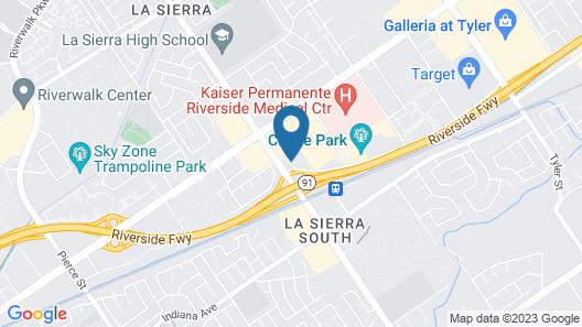 Motel 6 Riverside, CA - South Map