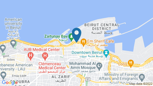 Four Seasons Hotel Beirut Map