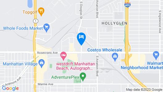 HYATT house Los Angeles LAX/Manhattan Beach Map