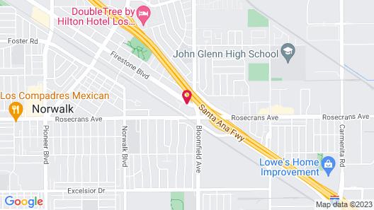 Hotel Saddleback Los Angeles - Norwalk Map