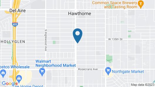 Deluxe Inn Hawthorne Map
