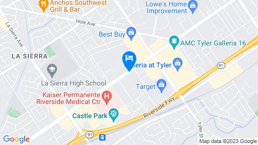 Rodeway Inn Riverside Map