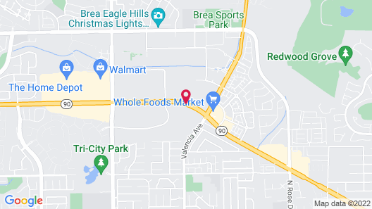 Chase Suite Hotel Brea Map