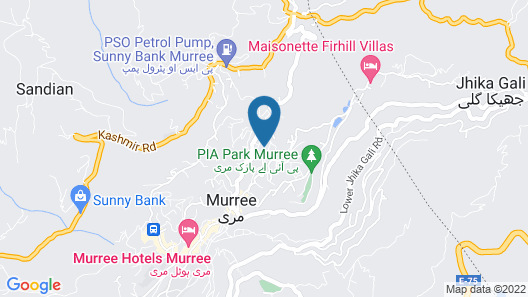 KASHMIR CONTINENTAL HOTEL Murree Map