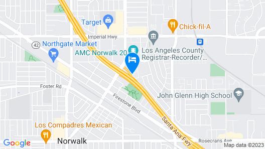 DoubleTree by Hilton Los Angeles - Norwalk Map