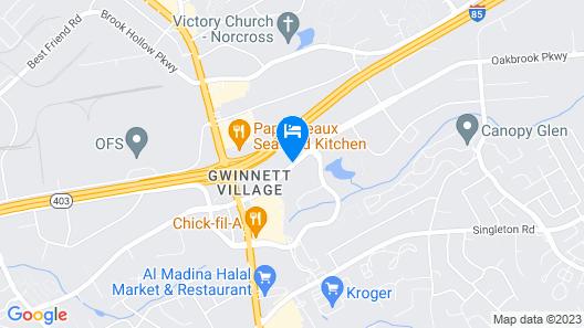 Motel 6 Norcross, GA - Atlanta Northeast Map