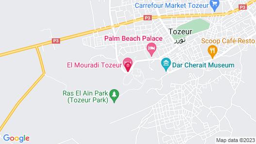 El Mouradi Tozeur Map