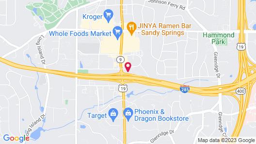 Comfort Inn Sandy Springs - Perimeter Map