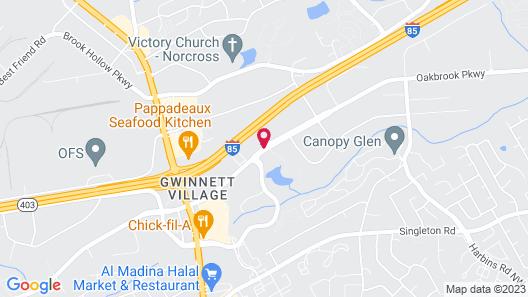 Baymont by Wyndham Norcross Atlanta Map