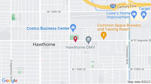 El Rancho Inn Hawthorne Map