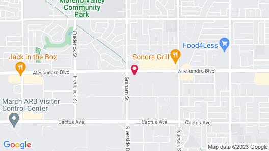 Motel 6 Moreno Valley, CA - Perris Map