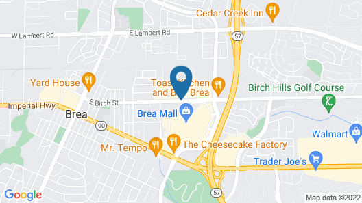 Embassy Suites by Hilton Brea - North Orange County Map
