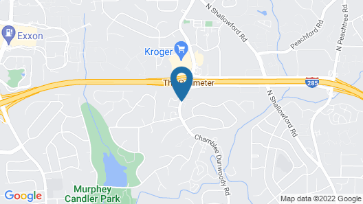 DoubleTree by Hilton Atlanta Perimeter Dunwoody Map