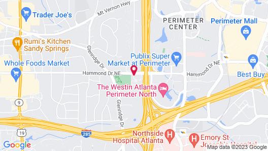 Holiday Inn Express Hotel & Suites Atlanta N-Perimeter Mall, an IHG Hotel Map