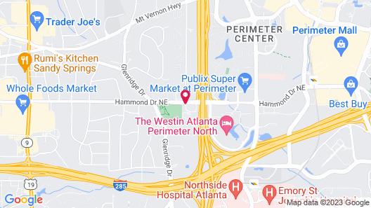 Holiday Inn Express Hotel & Suites Atlanta N-Perimeter Mall Map