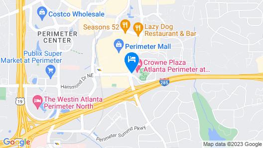 Crowne Plaza Atlanta Perimeter at Ravinia Map