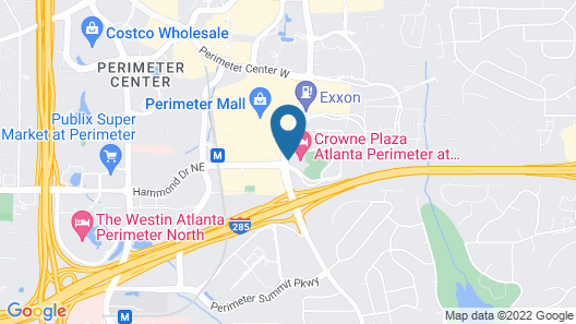 Crowne Plaza Atlanta Perimeter at Ravinia, an IHG Hotel Map