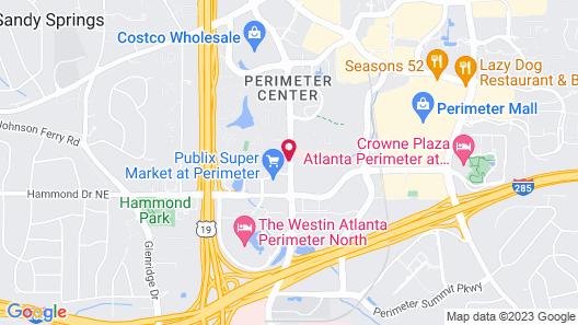 Hilton Suites Atlanta Perimeter Map