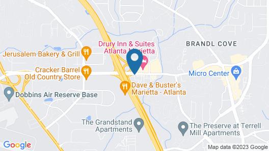 Motel 6 Marietta, GA - Atlanta Northwest Map