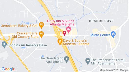 Studio 6 Marietta, GA - Atlanta Map
