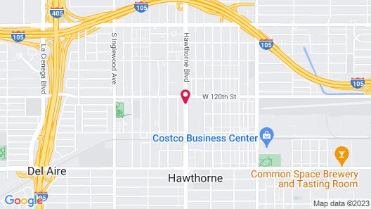 Hawthorne Plaza Inn Map