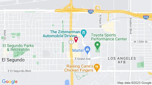 Extended Stay America Suites Los Angeles LAX El Segundo Map