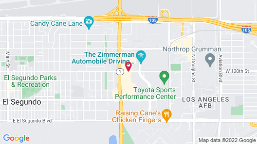 Extended Stay America - Los Angeles - LAX Airport-El Segundo Map
