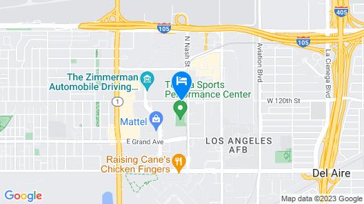 Hilton Garden Inn LAX El Segundo Map