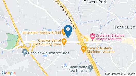 Hampton Inn and Suites Atlanta/Marietta Map