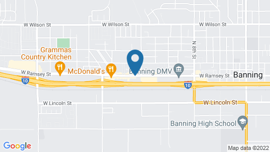 Travelodge by Wyndham Banning CA Near Casino/Outlet Mall Map